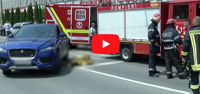 A apărut înregistrarea cu momentul în care o mașină trece peste un pieton la Cluj. Imagini cu puternic impact emoțional
