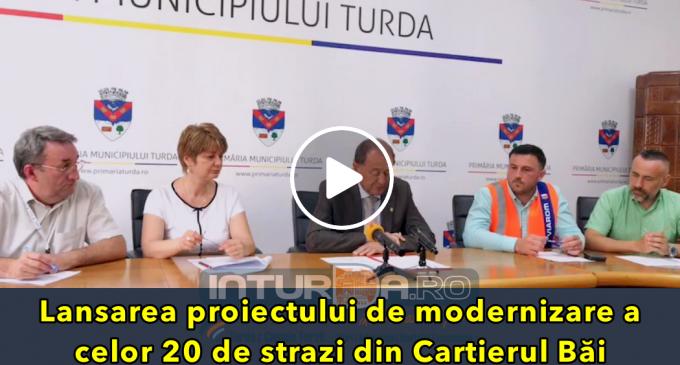 Conferință de presă – Lansarea proiectului de modernizare a celor 20 de strazi din Cartierul Băi