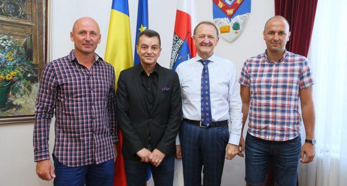 Președintele de la HC Montpellier, Lévy Rémy, în vizită la Turda