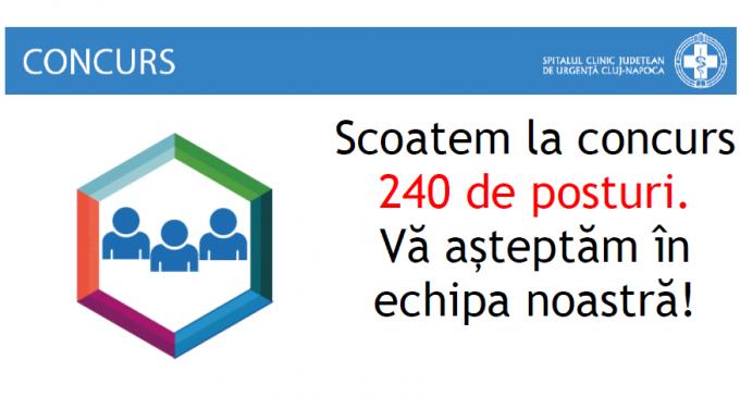 În perioada următoare, vor fi scoase la concurs 240 de posturi: asistenți medicali, infirmieri, brancardieri, dar și personal TESA și muncitori
