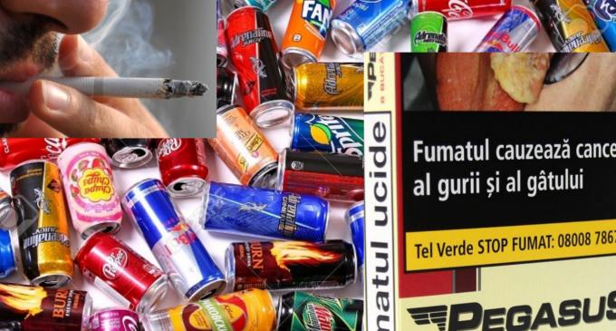 Taxă pe băuturile răcoritoare cu conținut ridicat de zahăr + Creșterea accizei la țigarete!