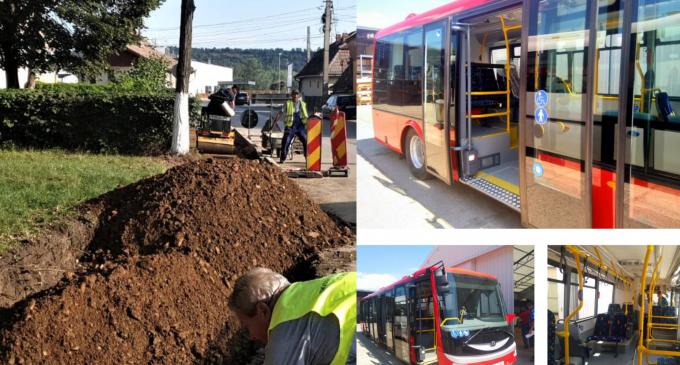 Pe strada Hațegului a fost finalizat branșamentul electric de alimentare pentru una dintre cele 2 stații de încărcare rapidă a noilor autobuze