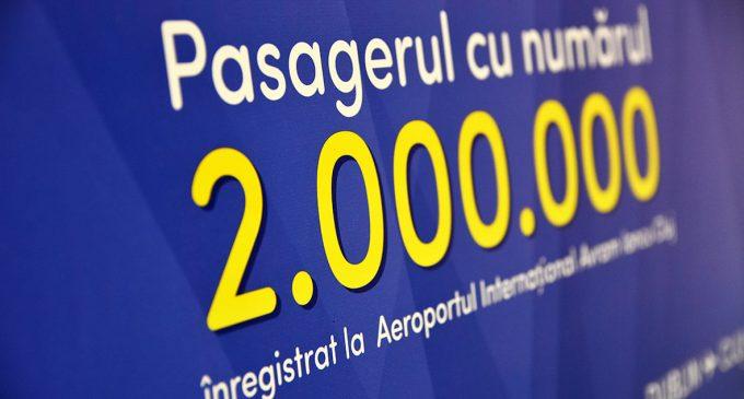 """Aeroportul Internaţional """"Avram Iancu"""" Cluj a sărbătorit pasagerul cu numărul 2 milioane în anul 2019"""