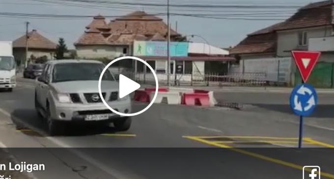 Atentie șoferi! Un nou sens giratoriu în municipiul Câmpia Turzii