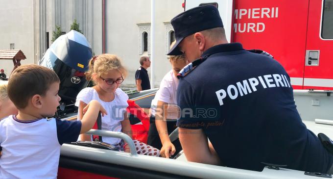"""VIDEO: """"Pompier pentru o zi"""" la Câmpia Turzii"""