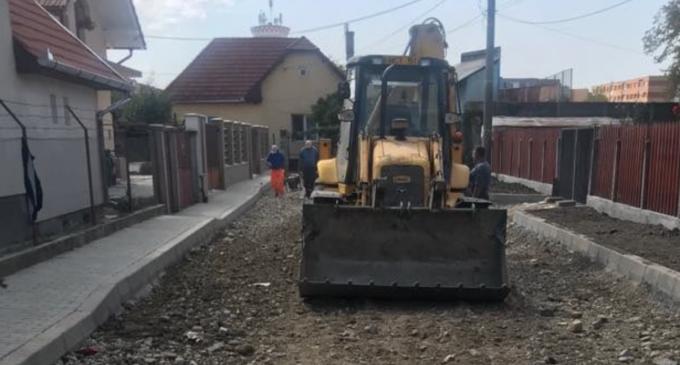 Dorin Lojigan: Străzile Vasile Lucaciu și Mică se apropie de etapa finală a lucrărilor