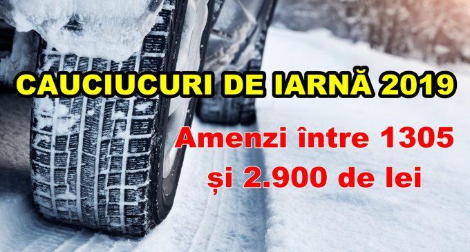 CAUCIUCURI DE IARNA 2019: Când trebuie echipată maşina de iarnă