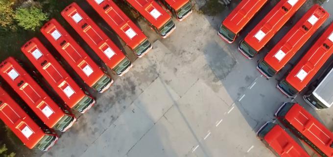 14 autobuze electrice au ajuns la Turda! Noua companie de transport își va începe activitatea în Decembrie