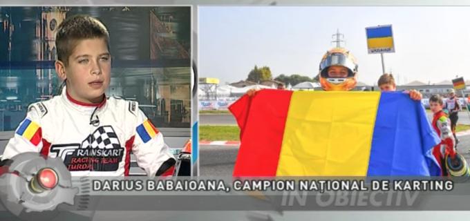 VIDEO: Darius Babaioana, campion național de KARTING, la TVR