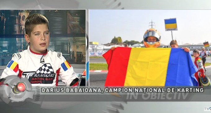 VIDEO: Darius Babaioana, campion național de KARTING, la TVR