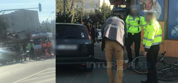 """Accident rutier soldat cu rănirea unui biciclist, în zona """"Trei mocani"""""""