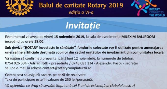 """Balul de caritate Rotary Club Câmpia Turzii 2019, sub deviza """"ROTARY investește în sănătate"""""""