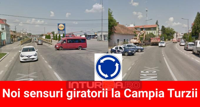 Noi sensuri giratorii la Campia Turzii! Măsurile vor fi luate pentru fluidizarea traficului
