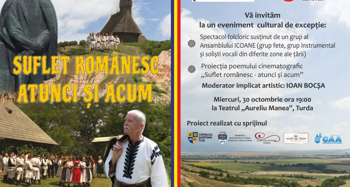 """Miercuri, 30 octombrie: Spectacol de excepție susținut de marele artist IOAN BOCȘA și ansamblul folcloric """"ICOANE"""""""