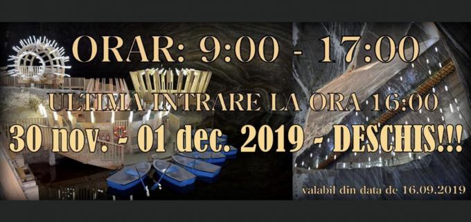 Salina Turda – Program de vizitare 1 Decembrie