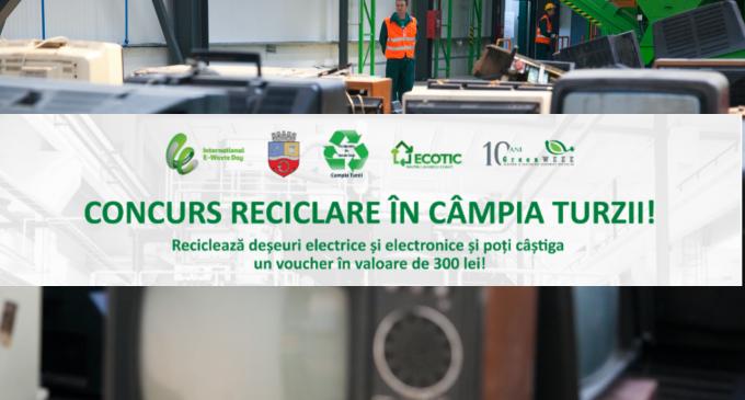 """Tobola campanie promotionala """"Reciclează deșeuri electrice și electronice si fii ambasadorul faptelor bune"""""""