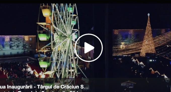 Foto/VIDEO: S-a deschis cel mai frumos Târg de Crăciun din România – Arată magic