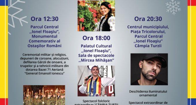 """,,Câmpia Turzii trăiește Marea Unire"""" – Programul manifestărilor prilejuite de Ziua Națională a României, 1 Decembrie 2019"""