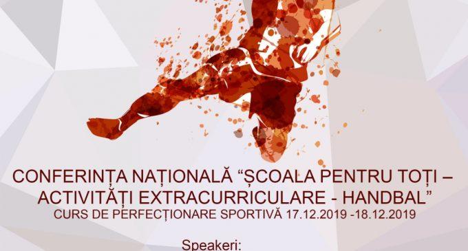 """Prima ediție a conferinței naționale """"Potaissa HandballConference"""" în cadrul programului """"Școala pentru toți – Activități extracurriculare – Handbal""""  va avea loc la Turda"""