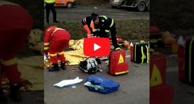 Două persoane au decedat în urma unui accident, în Cornești! La fața locului a intervenit și un elicpoter SMURD