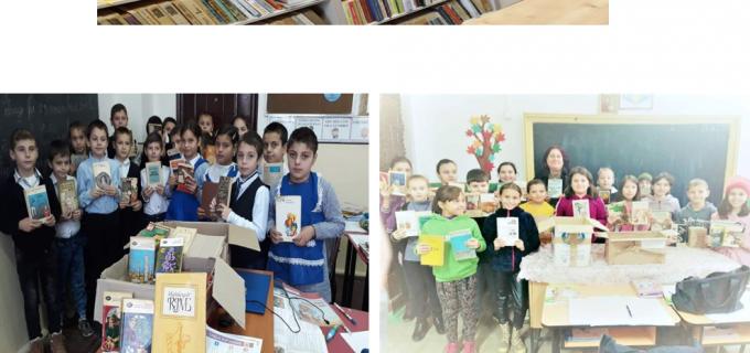 """Peste 2000 de cărți la biblioteca Liceului Liviu Rebreanu, prin proiectul """"O carte nouă pentru o bibliotecă nouă"""""""