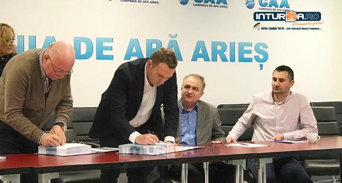 """Compania de Apă Arieș S.A. a atribuit contractul de lucrări ,,Extinderea și reabilitarea stațiilor de tratare apă potabilă și a conductelor de aducțiune în sistemul zonal de alimentare cu apă Turda""""(CL1)"""
