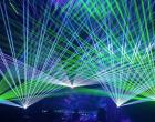 SHOW de lasere la deschiderea Târgului de Crăciun Turda