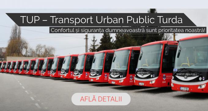 TUP – Transport Urban Public Turda.  Tarife bilete & abonamente + Programul  de transport