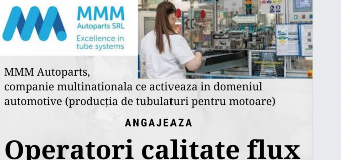 MMM Autoparts Turda angajează operatori calitate flux
