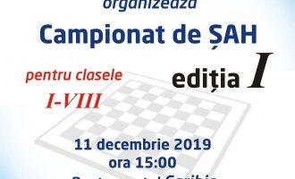 Rotary Club Turda împreună cu Șah Club Potaissa Turda organizează prima ediție a campionatului de Șah Rotary