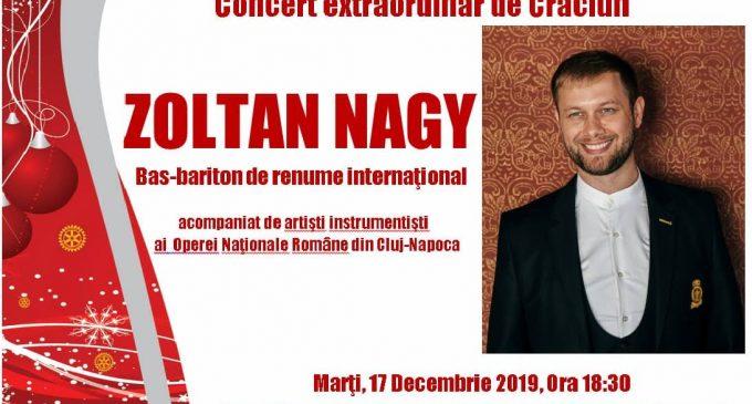 Concert extraordinar de Crăciun susținut de bas-bariton ZOLTAN NAGY, la Câmpia Turzii