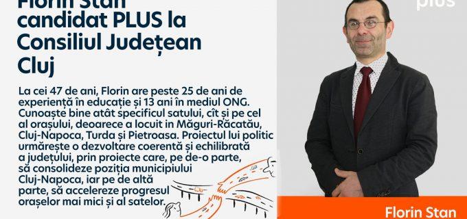 Profesorul turdean Florin Stan este cadidat PLUS la Consiliul Județean Cluj