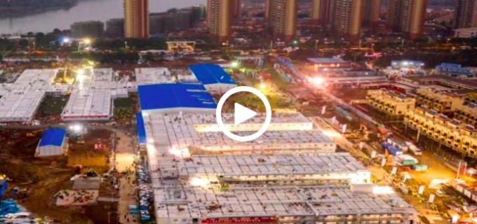 VIDEO Timelapse: Chinezii au ridicat un spital în 10 zile pentru pacienții cu CORONAVIRUS