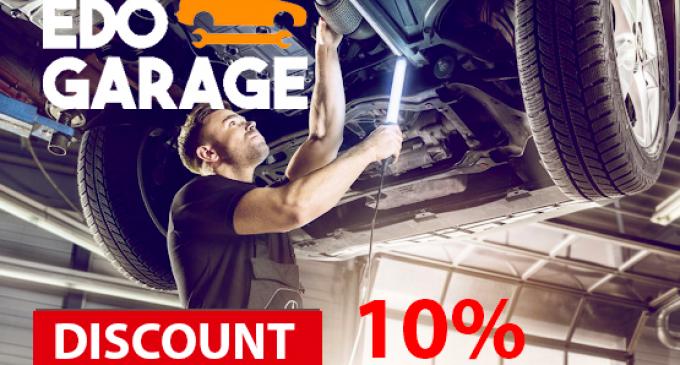 EDO GARAGE ofera discount 10% pentru clienti!