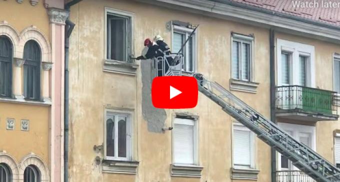 Video: Intervenție a pompierilor în centrul Turzii