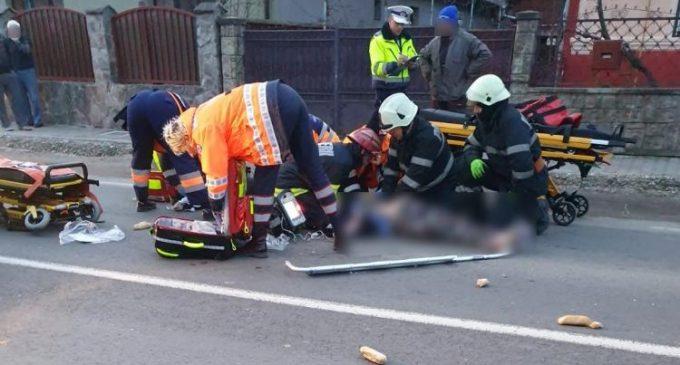 Accident grav în această dimineață în comuna Mihai Viteazu: două femei lovite pe trecerea de pietoni