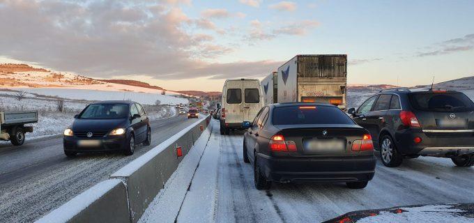 Poleiul a blocat DN1 Turda – Cluj-Napoca. Circulația rutieră a fost oprită pe ambele sensuri.