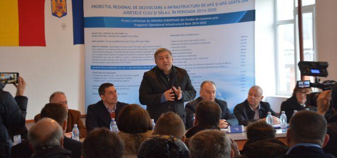 Consiliul Judetean Cluj semnat primul contract de lucrări aferent Proiectului regional de apă în valoare de 355,6 milioane de euro