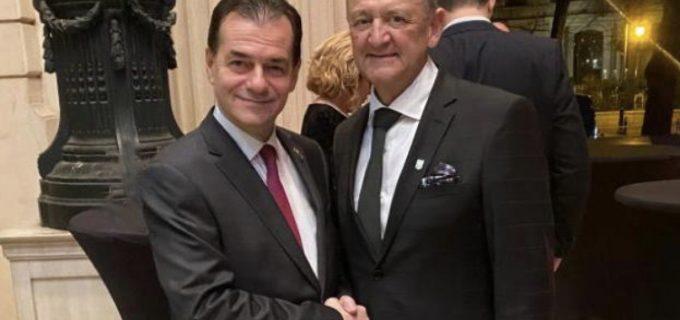 Primarul Cristian Matei s-a intalnit cu premierul interimar Ludovic Orban la Gala Women in Economy