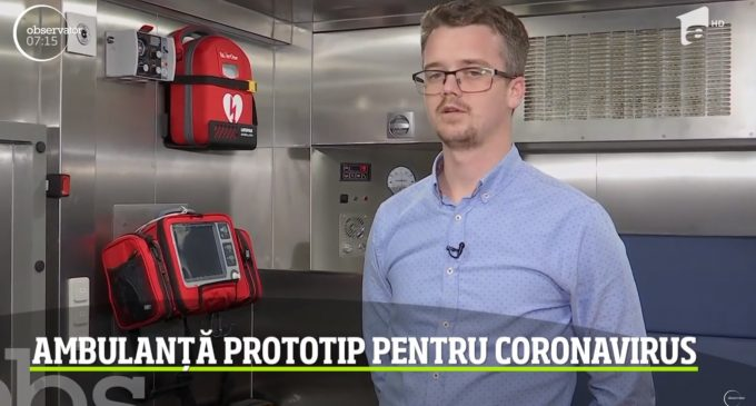 A1: Cum arată ambulanța prototip pentru coronavirus, construită la o fabrică din Cluj