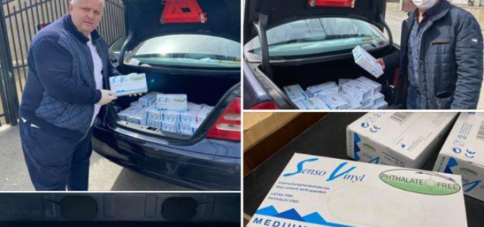 """Avram Gal a donat 3000 de mănuși Spitalului Câmpia Turzii prin Asociația """"New Life"""""""
