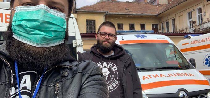 Asociația Beard Brothers a făcut astăzi a 4-a livrare de materiale sanitare și de protecție la spitalele din Cluj