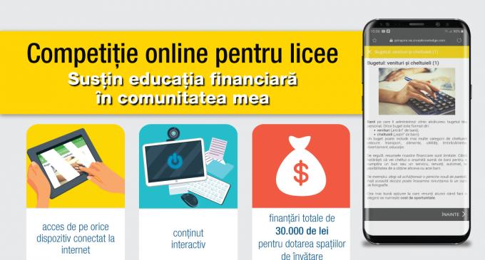 """Competiție online pentru licee: """"Susțin educația financiară în comunitatea mea"""", derulată de Junior Achievement România și Raiffeisen Bank"""