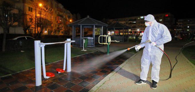 FOTO/VIDEO: au fost dezinfectate toate parcurile și locurile de joacă pentru copii din Turda