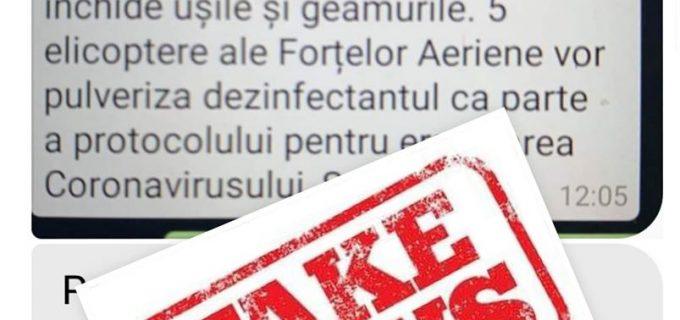 Ministerul Apărării Naționale din România semnalează o informație falsă care circulă pe WhatsApp