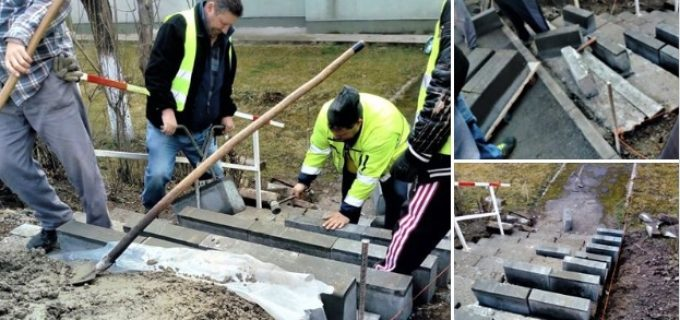 Au fost demarate lucrările în cadrul proiectului #30 Turda Decide: Modernizarea străzii Constructorilor nr. 8A, 28, 30, 32