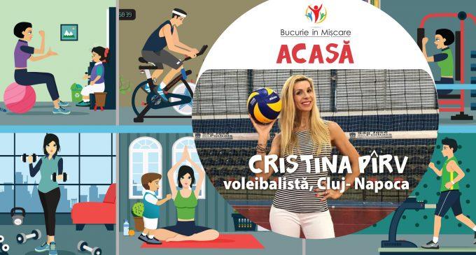 Fă mișcare alături de Cristina Pirv. 57.000 persoane au participat deja la programul #Mișcăm România cu bucurie și de ACASĂ!