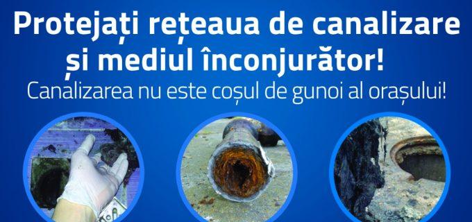 Informare CAA: protejați rețeaua de canalizare și mediul înconjurător