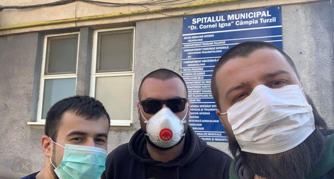 Asociația Beard Brothers a donat mai multe materiale sanitare decât STATUL Român pentru spitalele Turda și Câmpia Turzii