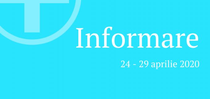 Spitalul Municipal Turda: informare privind situatia COVID19 in perioada 24-29 aprilie 2020